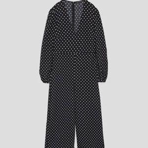 Cropped polka dot jumpsuit